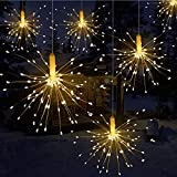 Queta Led Fairy Lights with Remote Control Outdoor Christmas Lights Battery Operated Explodierendes Fireworks, 120 S