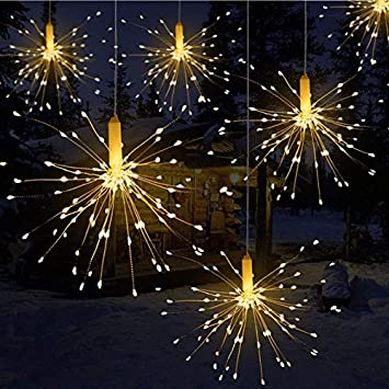 Queta Remote Control Battery Box Copper Wire String Explosion Fireworks  Light LED Decorative Lights