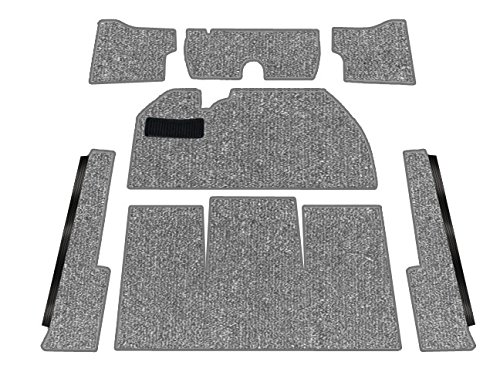 TMI Standard VW Front Carpet Kit, Charcoal Loop, w/o Footrest, Beetle Sedan 1969-1972 -