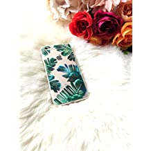 iPhone Case Cover Topical Leaf Custom Phone Case Banana Leaves TPU Soft Transparent Case Palm Leaf iPhone Case for iPhone 7 plus/ iPhone 8 plus