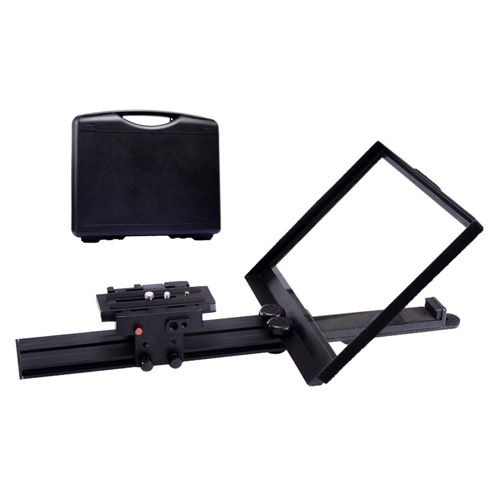 Professional Studio Teleprompter Kit for Tablet/Smartphone/DSLR Video Camera Camcorder with Free Carry Case by WJQ