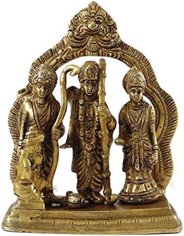 Religious Ram Darbar真鍮メタル図従来StatueホームD ?Cor Sculpture