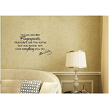 Amazon.com: Elvis Presley-Values are Like Fingerprints-Wall Decal ...