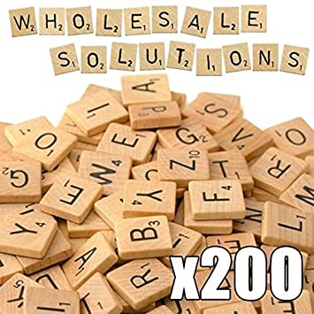 wholesale solutions ltd scrabble tiles x 200 wooden alphabet
