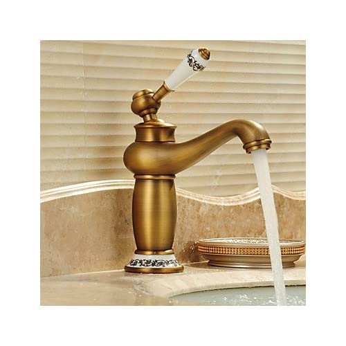 W&P Centerset traditional waterfall with a ceramic valve single for bronze, bathroom sink faucets single hole durable service