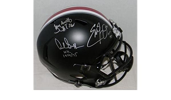 7edfbc732e3 Amazon.com: Archie Griffin Eddie George Troy Smith Signed Ohio State Black  F/s Helmet - JSA Certified - Autographed College Helmets: Sports  Collectibles