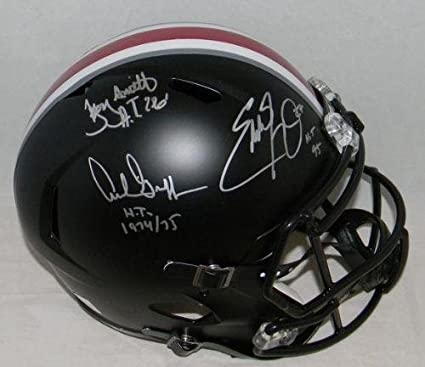 fa85136aa55 Image Unavailable. Image not available for. Color: Archie Griffin Eddie  George Troy Smith Signed Ohio State ...