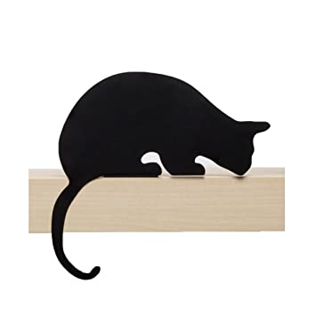Artori Design CatS Meow | Figura Sherlock | Silueta de Gato Decorativa metálica | Estatuilla de