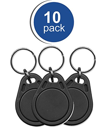 10 Pack RapidPROX Proximity Key Fobs for Access Control. Standard 26Bit (H10301) Format. by ID Enhancements, Inc.