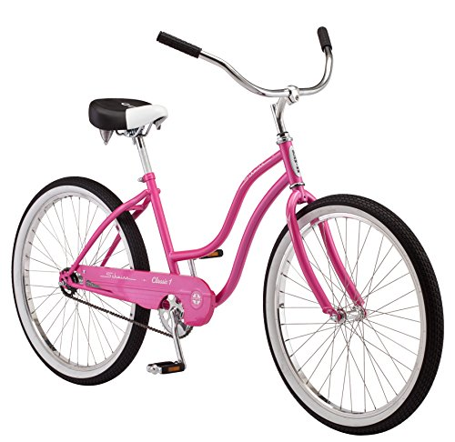 Schwinn Women's Classic 1 26″ Wheel Cruiser Bicycle, Pink, 14″/Small For Sale