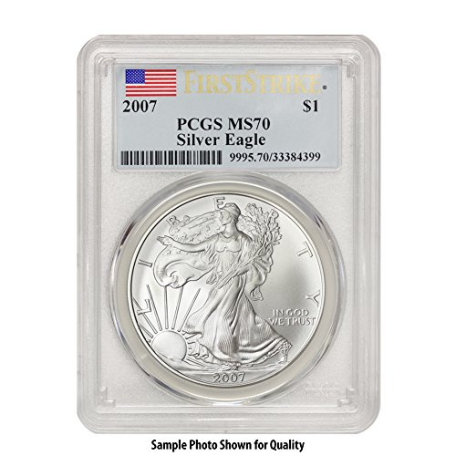 2007 American Silver Eagle $1 MS70 PCGS First Strike