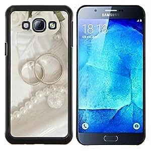 For Samsung Galaxy A8 A8000 Case , Anillo Pareja- Diseño Patrón Teléfono Caso Cubierta Case Bumper Duro Protección Case Cover Funda