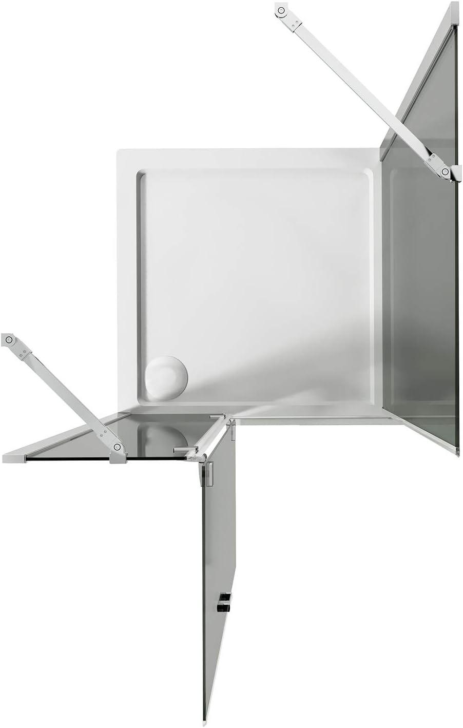 Flip Anta Idralite Box Doccia 80x50 CM H190 Trasparente con Easyclean MOD Fisso