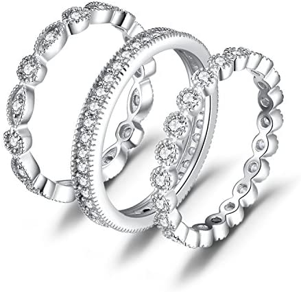 JewelryPalace Anniversary Eternity Stackable Engagement product image