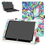 Mama Mouth PU Leather Folio 2-Folding Stand Case Cover for 10.1' HP X2 10 10-p010nr 10-p020nr 10-p092ms Tablet(Only fit HP X2 10-p000nr Series,not fit HP Pavilion x2 10 10-n000nr Series),Love Tree