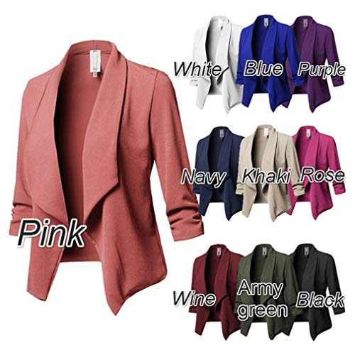 Court de L Blanc Blouson Slim Cardigan Couleur XL Blazers Pas 4XL Unie De 3XL Automne Jacket Veste 2XL M Femme de Basic OL Boutons Tailleur Veste S 5XL 1tpx5qvw