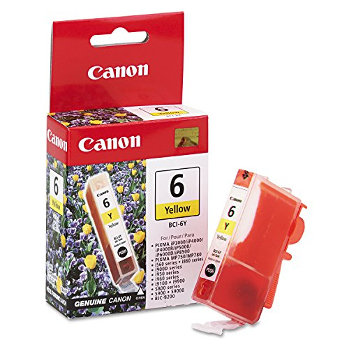 Canon BCI6Y Ink Cartridge, Yellow - in Retail Packaging