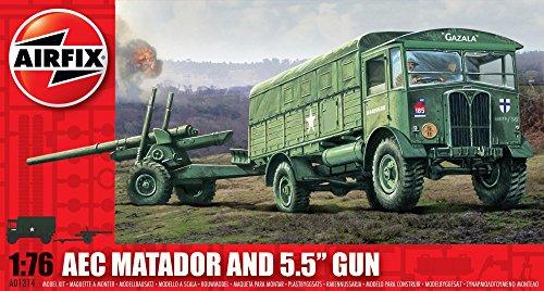 Airfix A01314 1:76 Scale Matador and Gun Military Vehicles Classic Kit Series 1