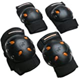Mongoose Bike Accessories MG506 Gel Knee-Elbow Pad Set - BMX-Skateboard