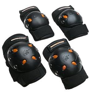 Mongoose BMX Bike Gel Knee and Elbow Pad Set