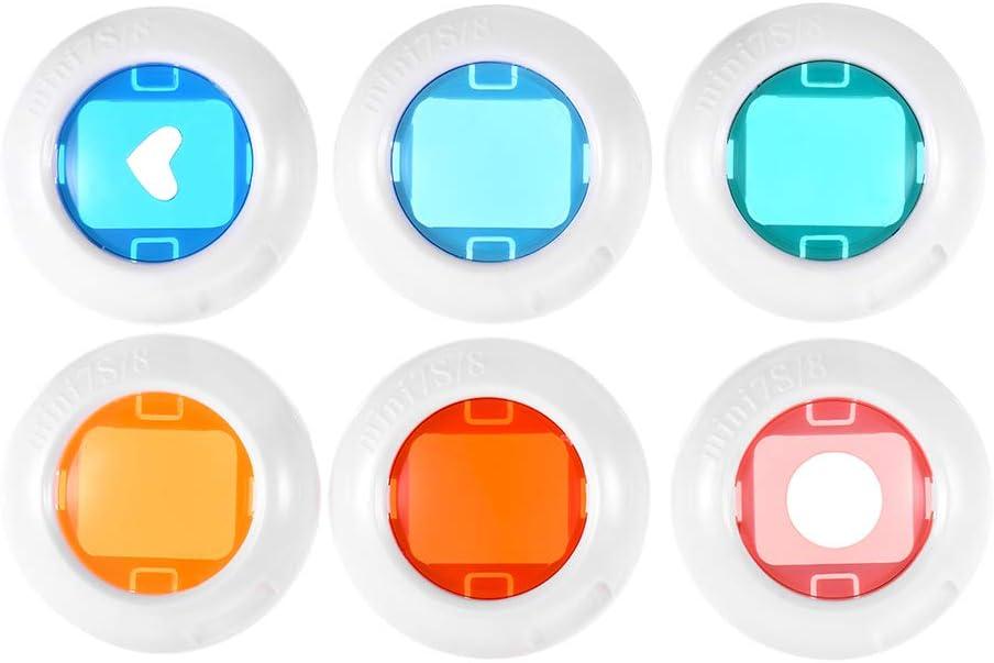 TPOTOO Cámara instantánea Mini Color Close Up Conjunto de filtros de Lentes para Fujifilm Instax Mini 7s / 8/8 + / 9, 6pcs