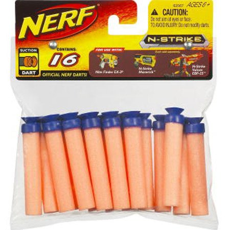 Nerf Suction Darts, 16-Pack (Darts Suction Cup)