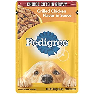 PEDIGREE Choice Cuts Grilled Chicken Flavor in Sauce Wet Dog Food 3.5 Ounces (16 Count)