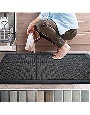 "iCustomRug Ergonomic Anti Fatigue Mat, for Comfortable Standing in Kitchen, Bathroom, Workstation Memory Foam Mat in Black 39""×20""×0.50"" (L×W×H)"