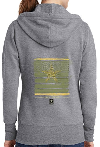 Womens Army Strong Full Zip Hoodie, Athletic Heather, 4X