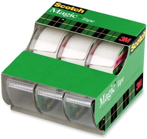6 Pack 3105 Scotch Magic Tape Dispensered Rolls 3//4 x 300 Inches