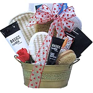 GreatArrivals Gift Baskets Just For Men Relaxing Valentine's Day Spa Gift Basket, 5 Pound