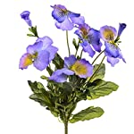 MARJON-Flowers29cm-Large-Artificial-Pansy-Bush-Blue-and-Yellow