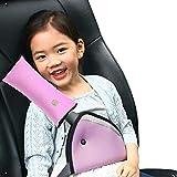 Diagtree Belt Strap Cover, Seat Belt Cover for Kids Seatbelt Pillow Adjust Vehicle Shoulder Pads Safety Headrest Neck Support for Children Baby Adult (Pink)