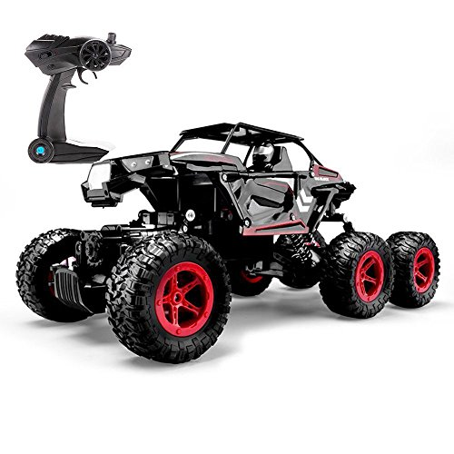 Mud Trucks (Blexy 6WD RC Cars, 1/14 Scale 2.4Ghz High Speed Electric Remote Control Off-Road Climbing Truck, Radio Controlled Rock Crawler, All-Terrain RTR Buggy Black)