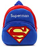 New Cute Plush Superman Mini Backpack for young Students Ages 3-5 Years old , Generic