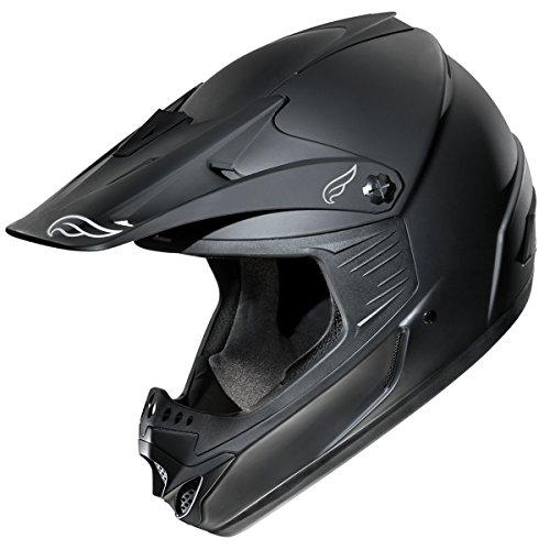 Fulmer, AF-X3021015, Adult X30 Tracker Helmet MX ATV Dirt Bike Off Road DOT/ECE Approved - Flat Black, XS