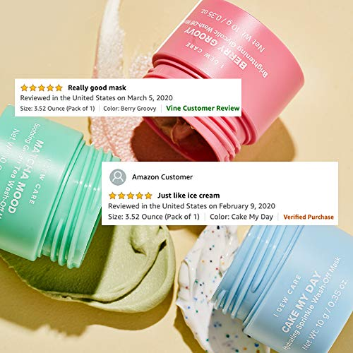 I DEW CARE Mini Scoops | Wash Off Face Mask Skin Care Trio | Korean Skin Care Starter Set | Self Care Gifts for Women | Facial Treatment, Vegan, Cruelty-free, Paraben-free 8