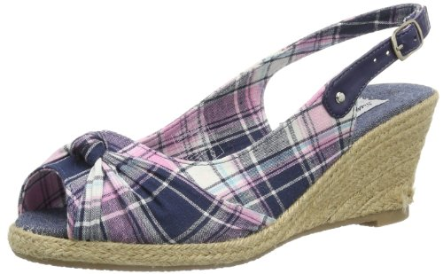 Nothing Lasts Forever 283 690 - Alpargatas Mujer Varios colores (Mehrfarbig (navy/pink checker 855))