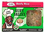 Rudy Greens Doggy Cuisine Home Cooking For Dogs Beefy Rice Frozen Human Grade Dog Food 5 Boxes (7.5 lbs Total, 20 Pouches each 6 oz)