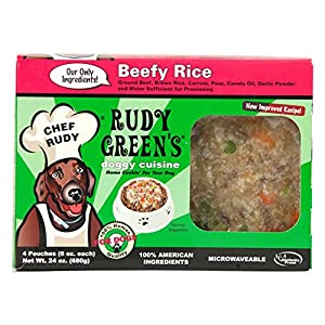 Rudy Green'S Doggy Cuisine Home Cooking For Dogs Beefy Rice Frozen Human Grade Dog Food  5 Boxes (7.5 Lbs Total,  20 Pouches Each 6 Oz) 2