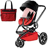 Quinny MoodQuinny Moodd Stroller With Diaper Bag Bold Block Redd Stroller With Diaper Bag Bold Block Red