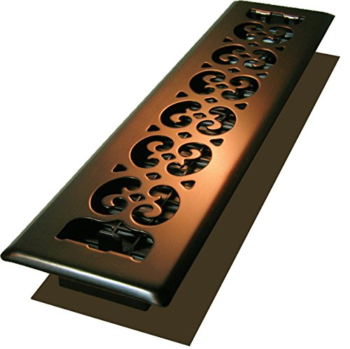 Decor Grates SPH214-RB Scroll Plated Register, 2-Inch by 14-Inch, Rubbed Bronze