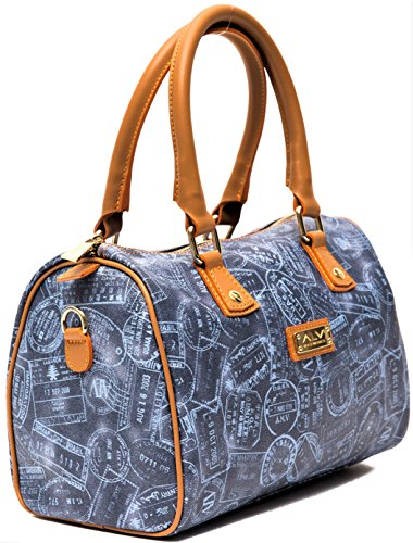 Bauletto Martini Blue Donna Bag Denim Alviero Borsa Woman dIx50Adq
