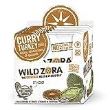 Wild Zora Curry Free Range Turkey & Organic Veggie Bars (10 pack)-Gluten-Free, No Antibiotics, No Added Hormones
