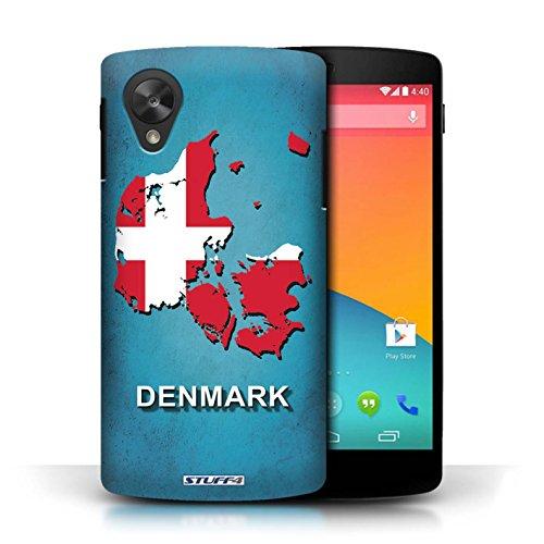 Kobalt® Imprimé Etui / Coque pour LG Google Nexus 5/D821 / Danemark/Danoise conception / Série Drapeau Pays