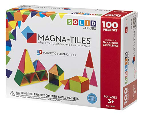 - Magna-Tiles 02300 Solid Colors 100 Piece Set