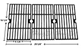 Hongso PCA593 Matte Cast Iron Cooking Grid Replacement for Uniflame GBC1059WB, Uniflame GBC1059WE-C, Backyard Grill BY12-084-029-98 and Other Gas Grill Models, Set of 3