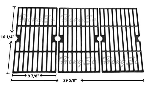 Hongso PCA593 Matte Cast Iron Cooking Grid Replacement for Uniflame GBC1059WB, Uniflame GBC1059WE-C, Backyard Grill BY12-084-029-98 and Other Gas Grill Models, Set of (Parts Grid)