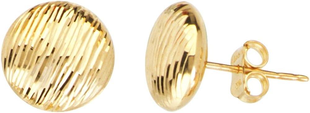 14Kt Gold 11Mm Stud Earring Stud Earrings