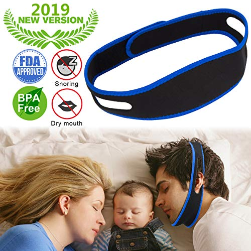 Anti Snoring Chin Strap for Men and Women, Ajustable Stop Snoring Solution Anti Snoring Devices Sleep Aids Snore Stopper Chin Straps for Snoring Sleeping Mouth Breathers
